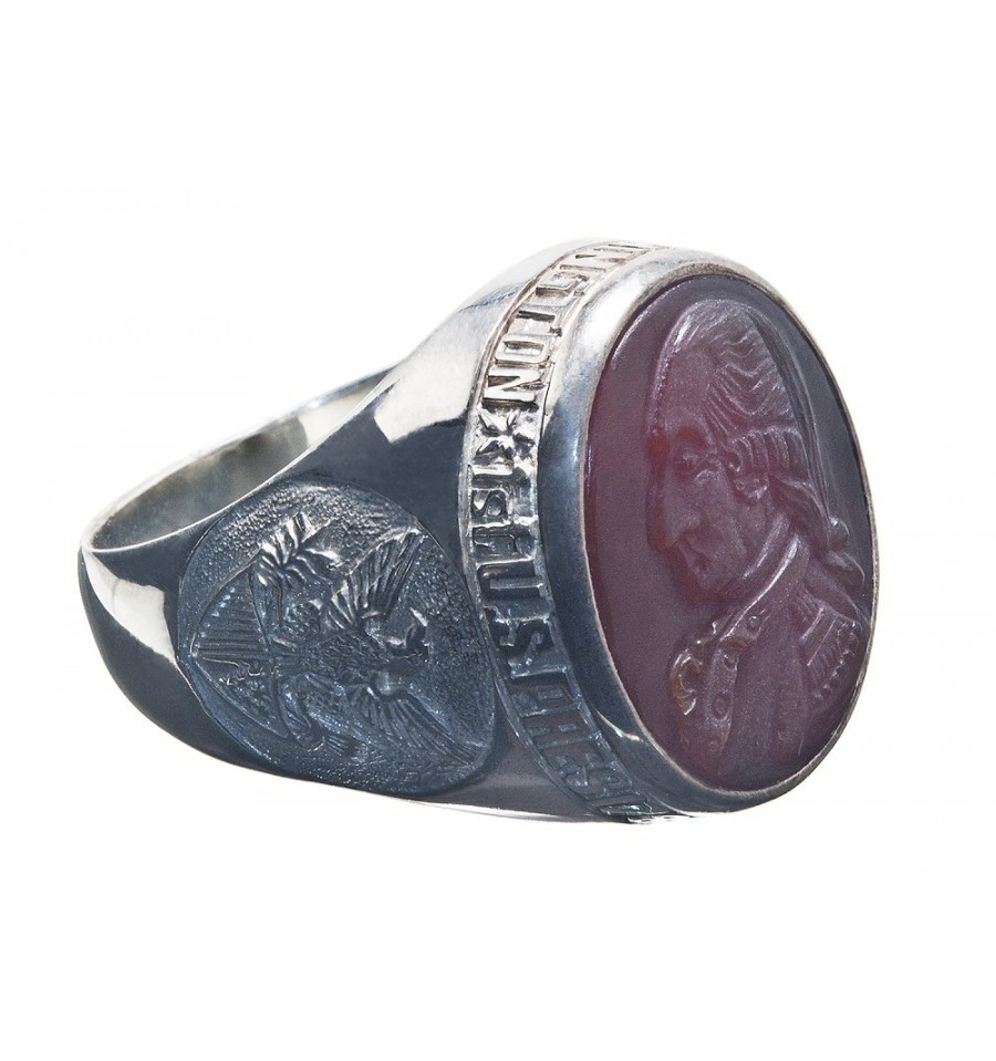 George Washington Patriots Ring Sterling Silver