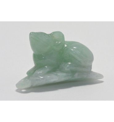 Jade Gemstone Sculpture - Mouse Called Sniffy