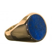 Lapis Lazuli Gold Plated Sterling Silver Stone Ring