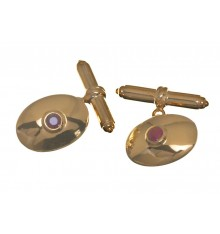 Ruby Gemstone Cuff Links set in Gold Plated Sterling Silver