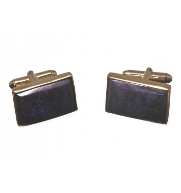 Sigurite Sundowner Cuff Links - Gold Plated Silver