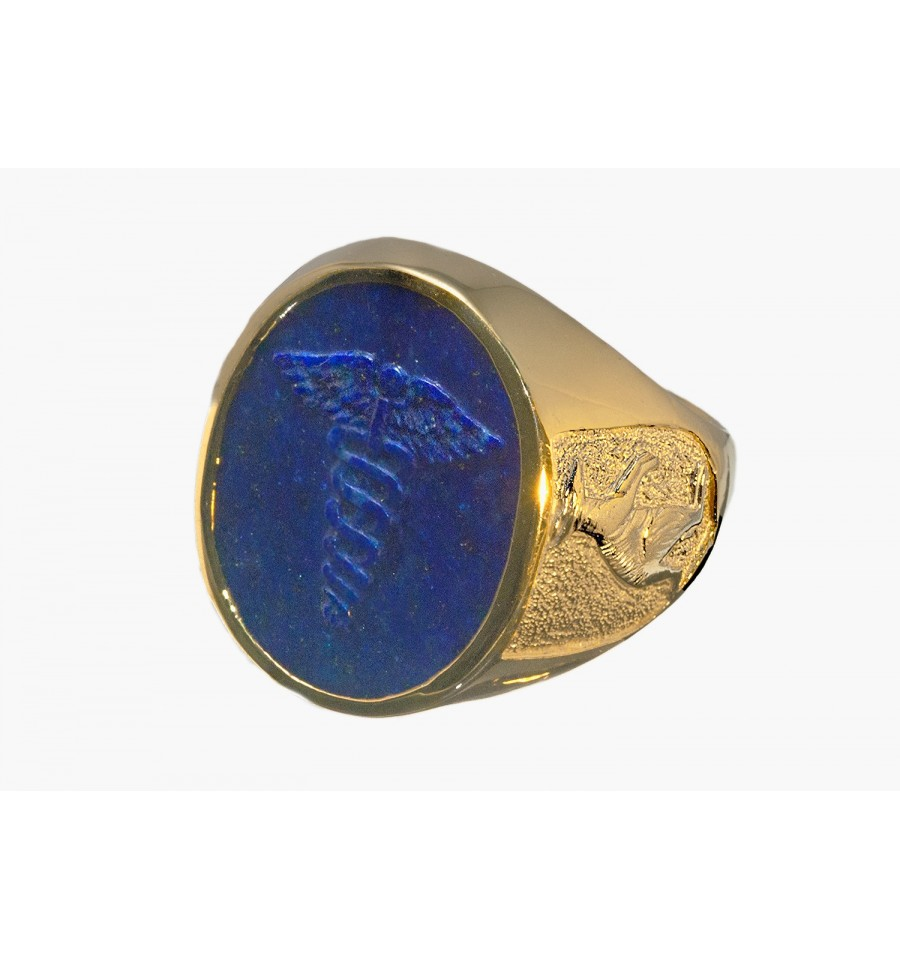 A Regnas Lapis Stone Doctor S Ring With An Australian Design