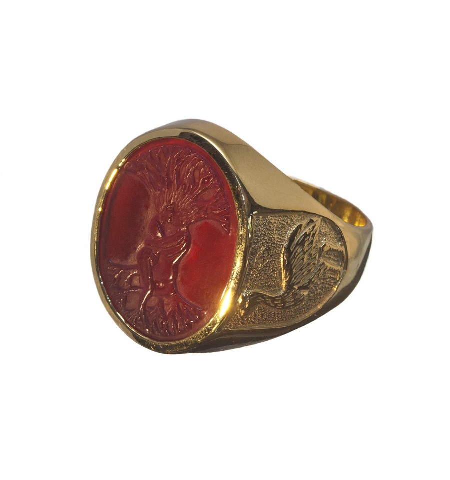 A Romantic Tree Of Life Regnas Ring Of Red Agate