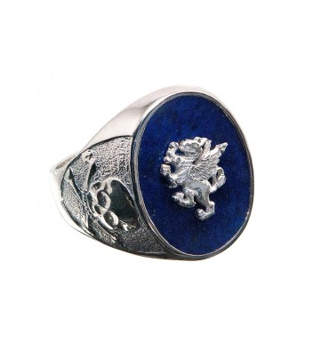 Lapis Griffin Amp Skull And Crossbones Sterling Silver