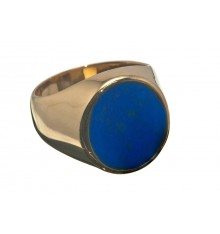 Lapis lazuli And Gold Plated Sterling Silver Ring