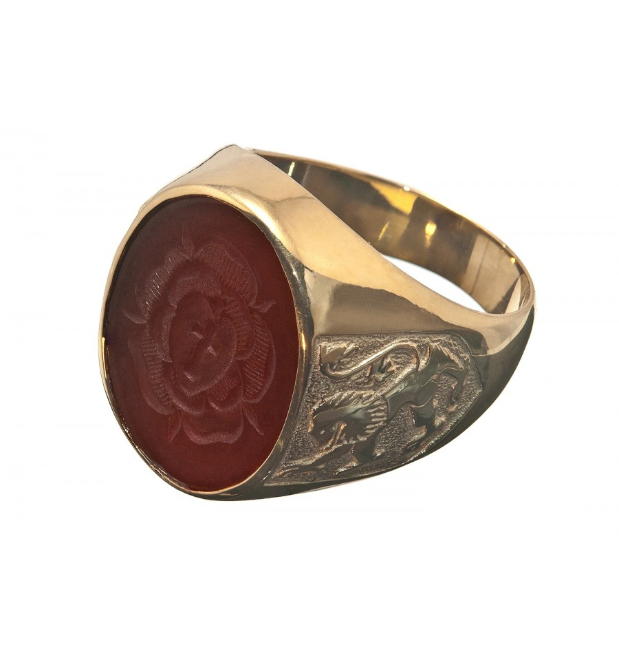 Red Agate Rosicrusian Amp Scottish Lion Gold Plated Sterling