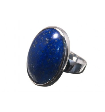 Lapis lazuli Large Cabochon Sterling Silver Ring