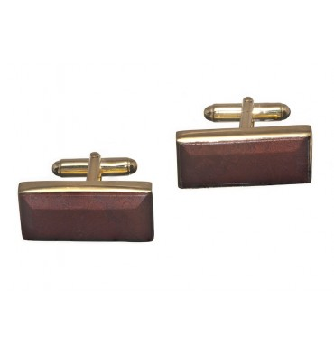 Red Jasper Antibes Swivel Cufflinks-Gold Plated Silver