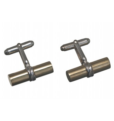 Gold Plated Silver Grandee Swivel Cufflinks - Sterling Silver