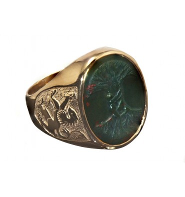 Bloodstone Ring Size