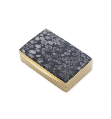 Sea Fossil Snuff Box - Gold Plated Sterling Silver