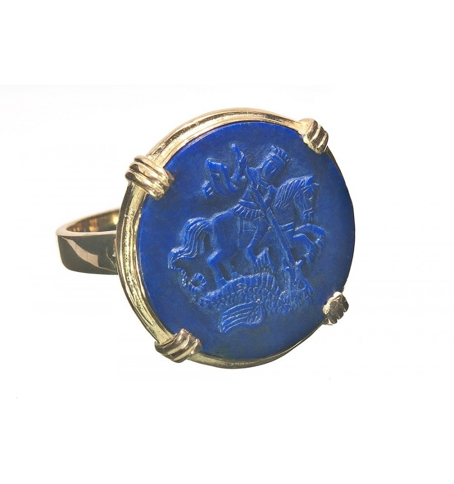 lapis st george gold plated sterling silver style