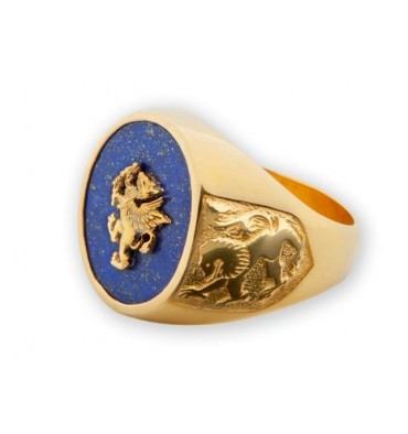 Lapis ring with Griffon Rampant