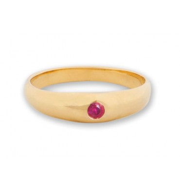Ruby Ring Unisex Gold