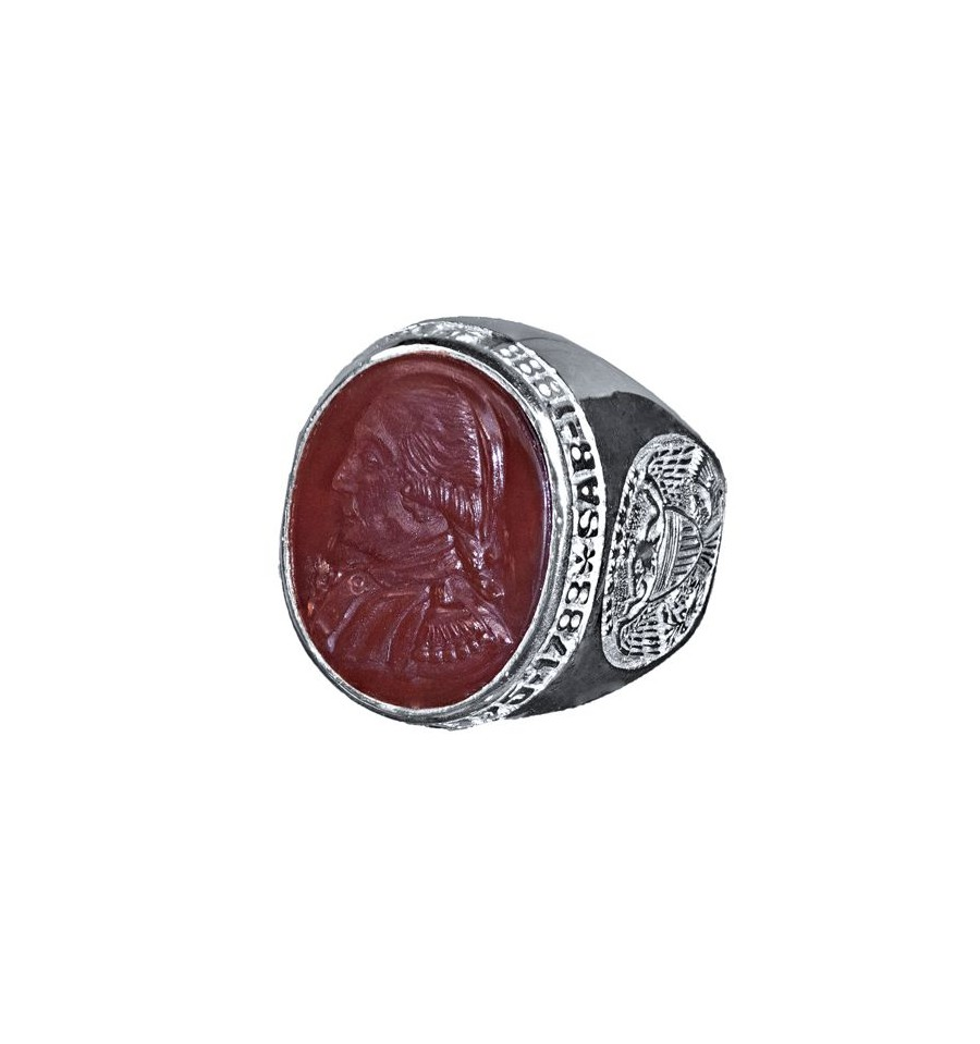 Sar Membership Ring Red Agate Amp Sterling Silver Regnas Jewelry
