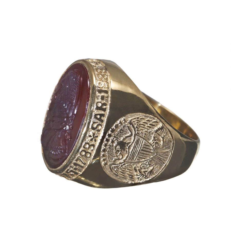 Sar Membership Ring Red Agate Amp 9 Kt Gold Regnas Jewelry