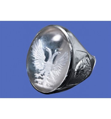 Crystal Cabochon Ring Imperial eagle