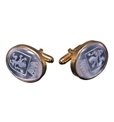 Crystal cufflinks Royal Coat Of Arms