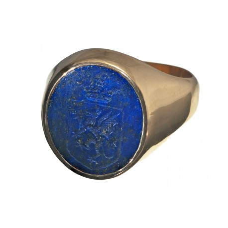 Celtic Ring Lapis Dragon