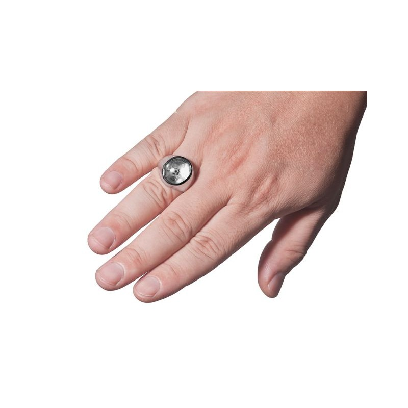 Masonic Ring Crystal Reverse Engraved set square and compass