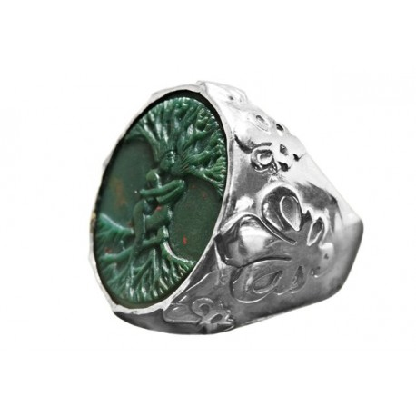 Tree Of Life Ring Bloodstone