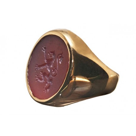 Lion Ring Seal Heradic Gold Plated 925