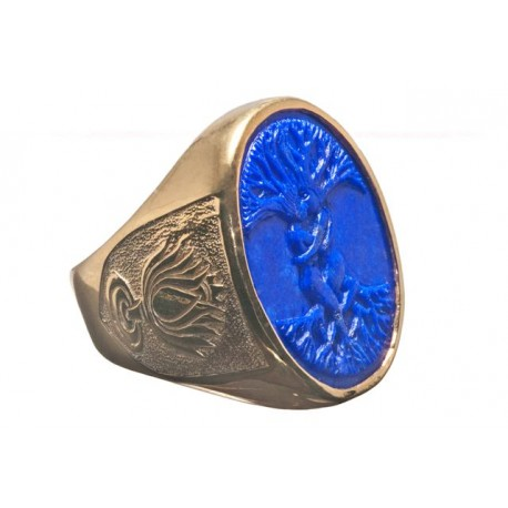 Erotic Ring Lapis Tree Of Life