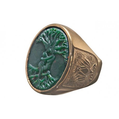 Bloodstone Tree Of Life Ring