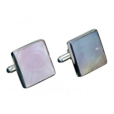 Swivel Mother Of Pearl Cufflinks Silver 925