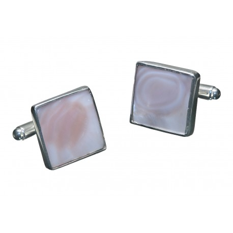 Square Mother Of Pearl Cufflinks Silver 925