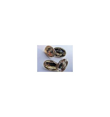 Traditional Edwardian Double Gold Plated Silver Cufflinks