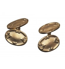 Traditional Edwardian Fitzrovia Double Cufflinks Gold Plated
