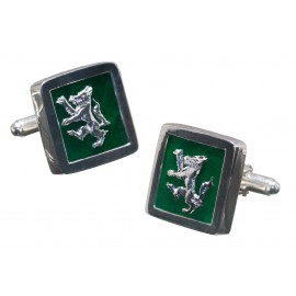 Wolf Cufflinks Handmade Genuine Jade Gemstone Sterling Silver 925