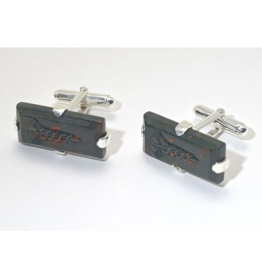 Bloodstone Doctors Rectangular Cufflinks