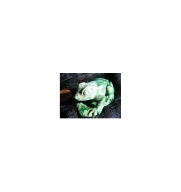 Green and White Jade Frog called Lucien