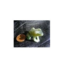 Light Green, White and Brown Jade Frog named Guy