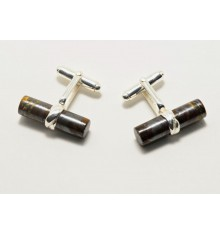 Hawk's Eye Grandee Swivel Cufflinks - Sterling Silver