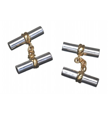 Solid Sterling Silver Imperial Double Cuff links