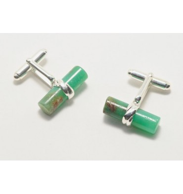 Chrysoprase Marlborough Cufflinks - Sterling Silver