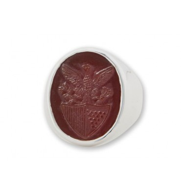 American seal ring hand carved Agate