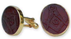 Masonic Engraved Cufflinks